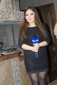 "Гульназ Жылкайдарова - журналист службы новостей, ведущая программы ""Сәтті күн"""