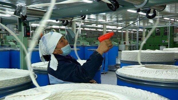 В Шымкенте возобновил работу завод по выпуску хлопчатобумажной пряжи