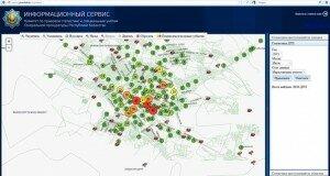 Карта преступности и ДТП внедрена в Южном Казахстане